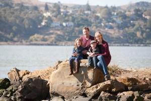 Benicia CA Family portrait on the water