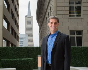 Executive portrait with Transamerica tower backdrop