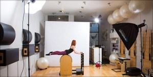 Behind the Scenes at a pilates photoshoot