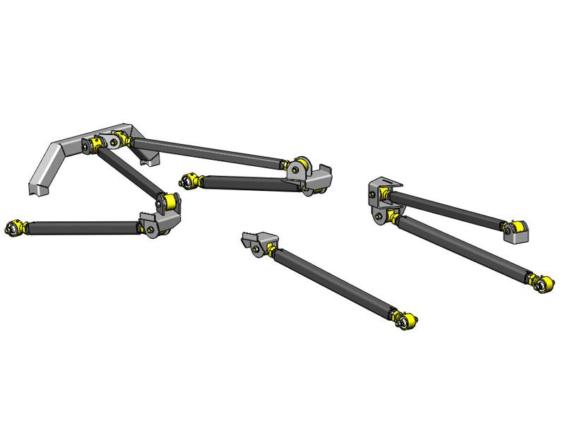 Jeep Wrangler Pro Series 3 Link Long Arm Upgrade Kit 1997