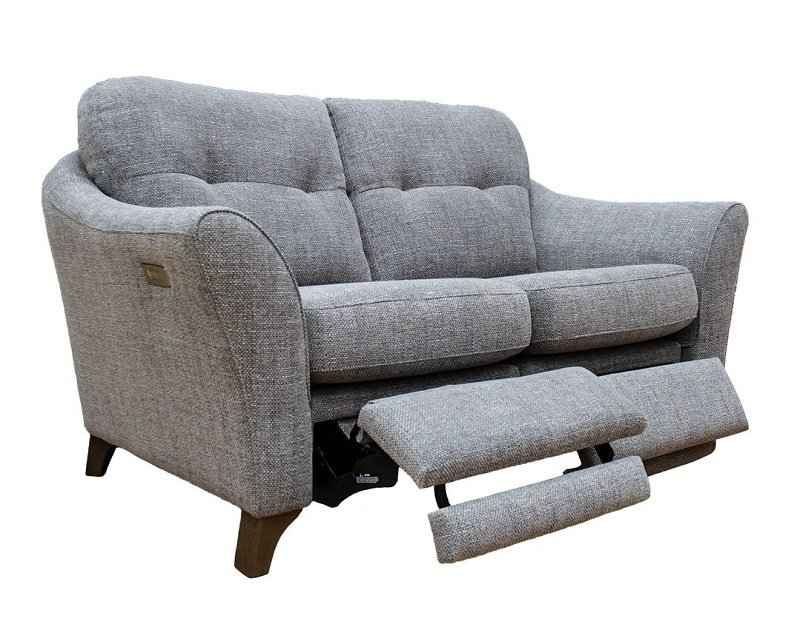 g plan hatton two seater double power footrest formal back sofa