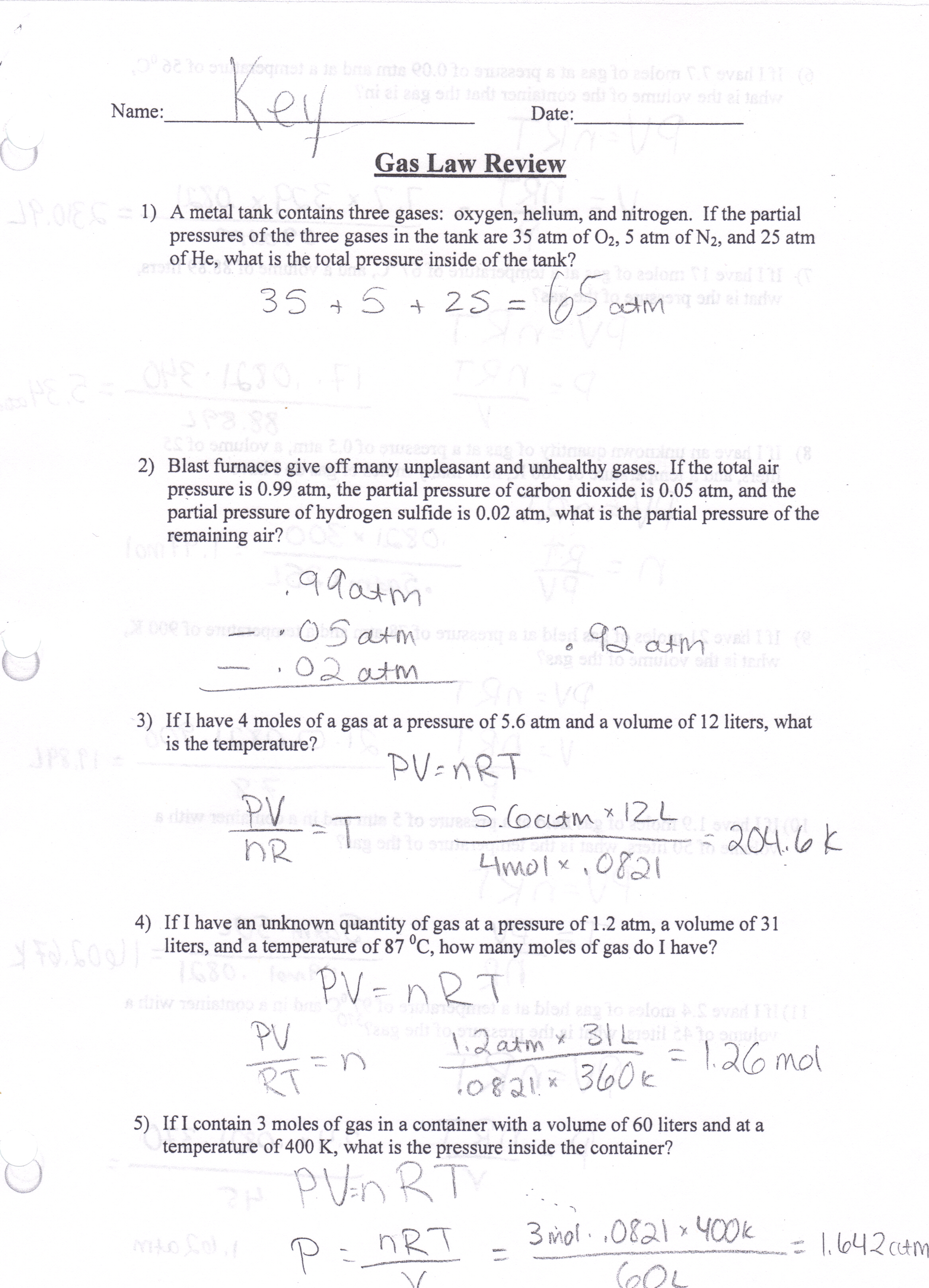 35 Charles Law Worksheet Answers
