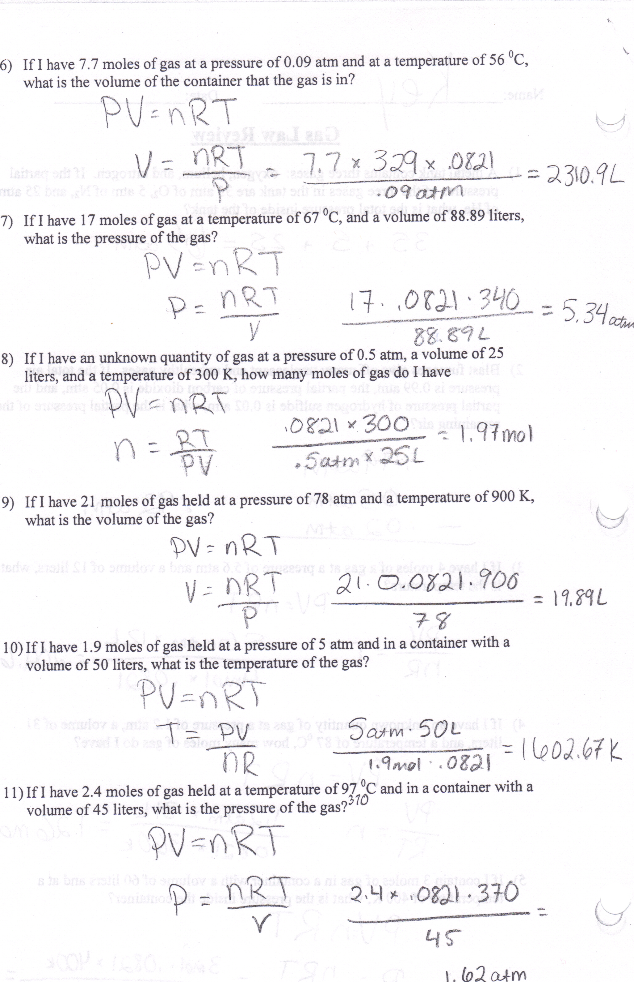 Answers To Homework Problems Key