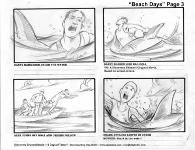 Film storyboards examples