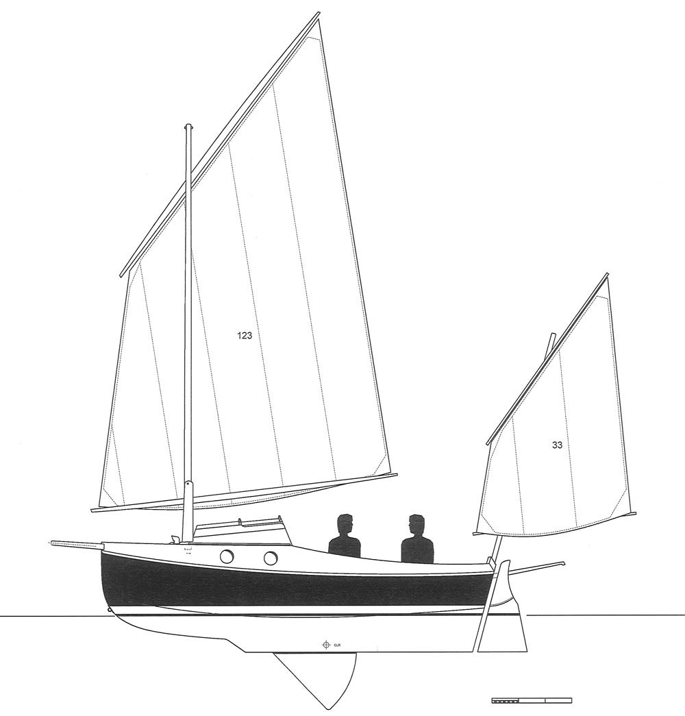 medium resolution of pocketship lug rig