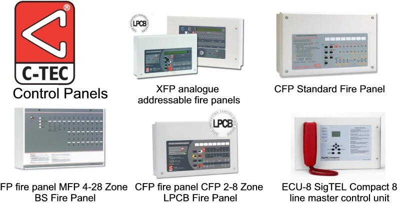 addressable fire alarm control panel wiring diagram single phase motor capacitor start run c tec panels supplied by clc alarms xfp analogue cfp standard fp mfp 4 28 zone bs