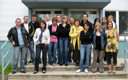 Une partie de l'équipe d'encadrement de l'Accueil de Loisirs de Juillet 2007