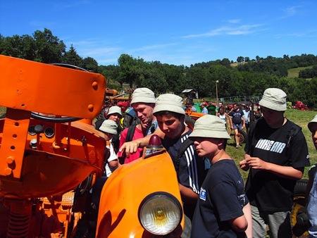 L'exposition des tracteurs à Orcières