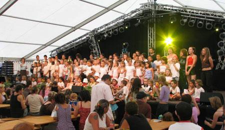 Le spectacle d'ouverture du Festival de l'été 2006