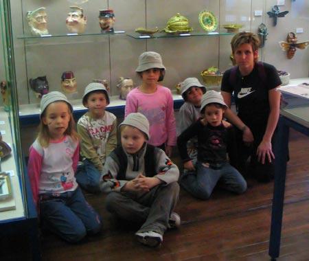 Le musée de la faïence de Sarreguemines à été visité par les enfants du CLSH ...