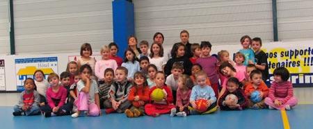... ils ont aussi pu découvrir le handball à Stiring-Wendel !