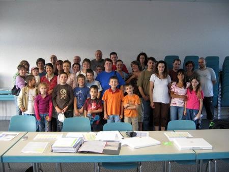 Tous les acteurs de la première colonie de vacances de l'ACS, parents, enfants, organisateurs, animateurs !