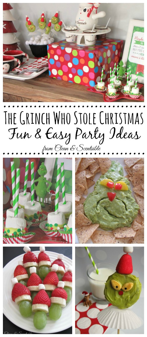 grinch party clean and