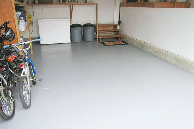 How To Paint A Garage Floor Clean And Scentsible