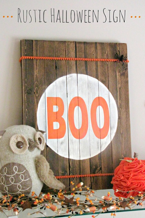 Rustic Halloween Sign Clean And Scentsible