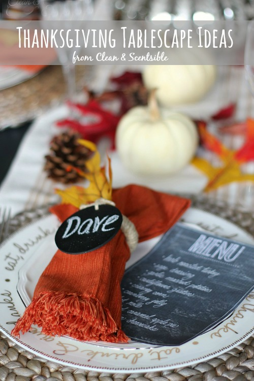 Thanksgiving Table Setting Ideas Clean And Scentsible