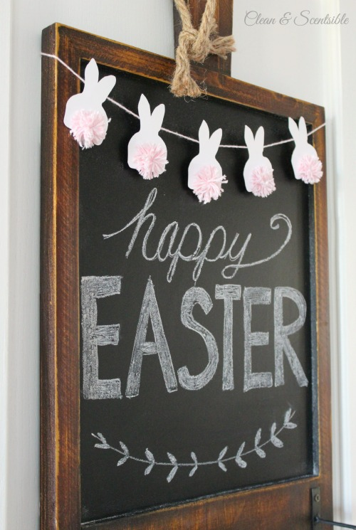 Easter Bunting With Pom Pom Bunnies Clean And Scentsible