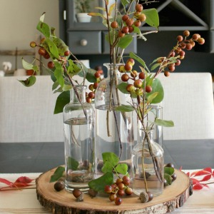 How to decorate with faux stems.