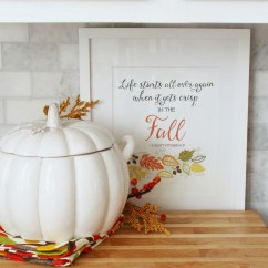 Fall Kitchen Decor 6 Seat Table Easy Decorating Ideas Clean And Scentsible Simple Ways To Add Some Your