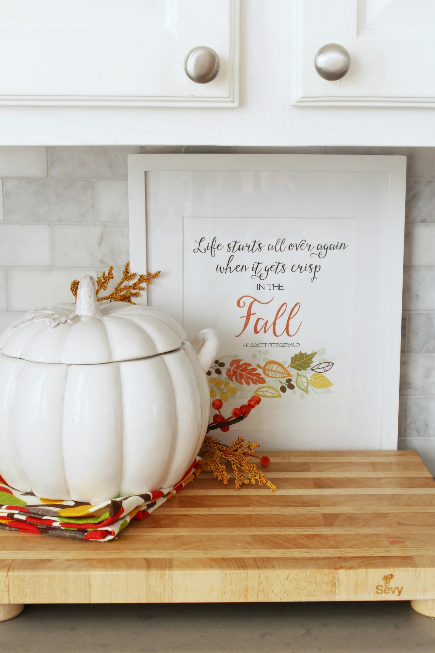 fall kitchen decor memory foam floor mats easy decorating ideas clean and scentsible simple ways to add some your