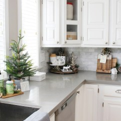 Decor For Kitchen Hotels With In Los Angeles Christmas Decorating Ideas Clean And Scentsible Decorations White Dressed Frosted Greens A Festive Touch