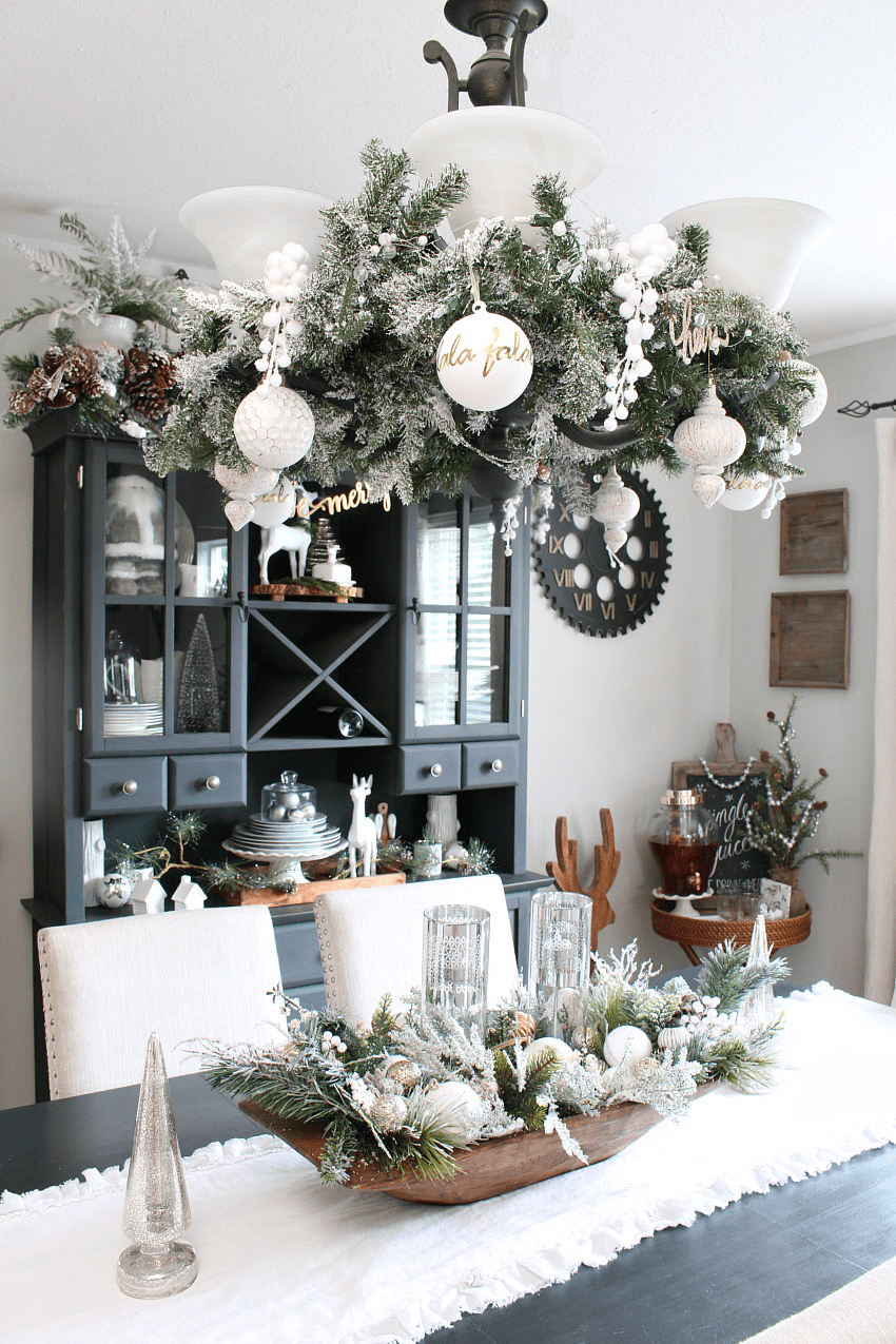 ideas for decorating my living room christmas beautiful rooms 2018 kitchen clean and scentsible farmhouse dining with a snowy winter wonderland feel decorated in white latest videos