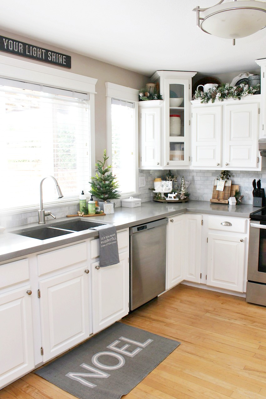 decor for kitchen essentials from calphalon christmas decorating ideas clean and scentsible decorations white dressed in frosted greens a festive touch
