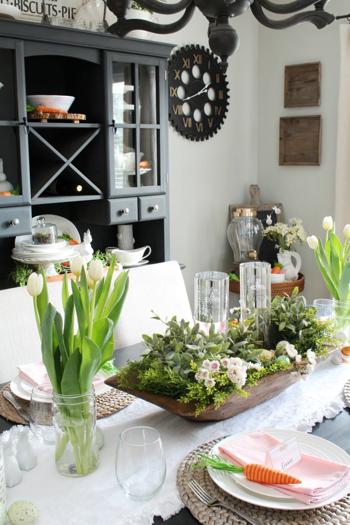 Spring Decorations for the Dining Room  Clean and Scentsible