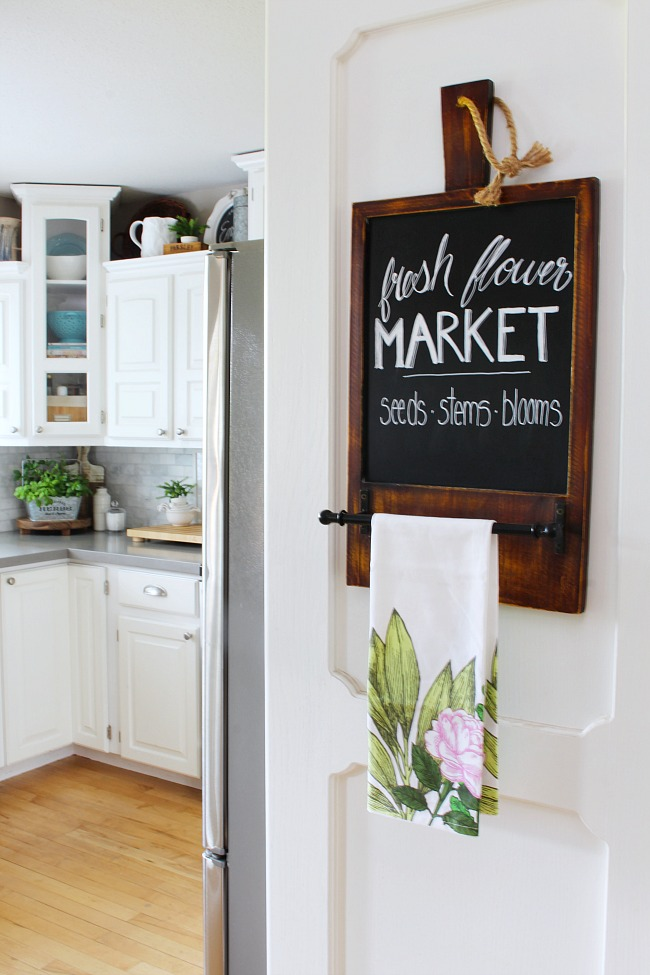 summer kitchen ideas stainless steel corner shelf decorating and home tour clean fresh flower market chalkboard art