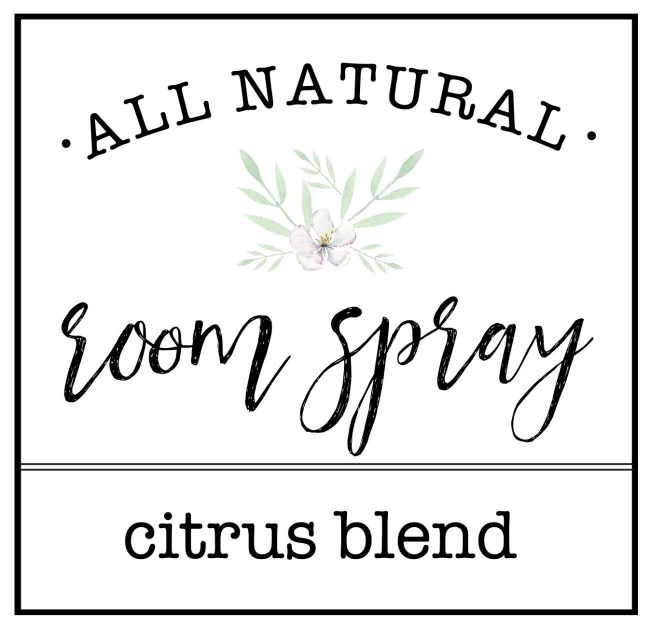 DIY Room and Linen Spray with Free Printable Labels