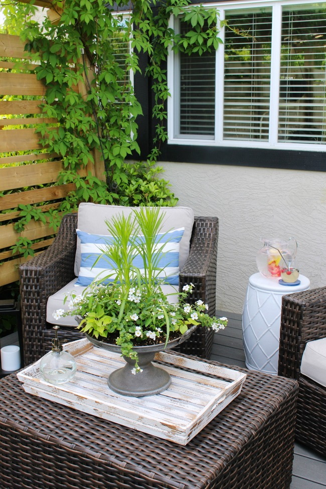 outdoor summer planter centerpiece