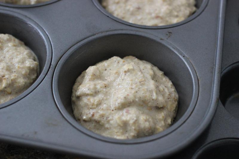 Cupcake Batter in Baking Pan