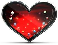 Toshiba Amore Heart Tablet