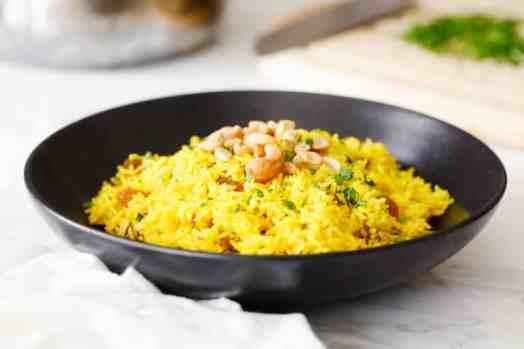 Indian Yellow Rice (Gluten-Free & Vegan) - Clean Eating Kitchen
