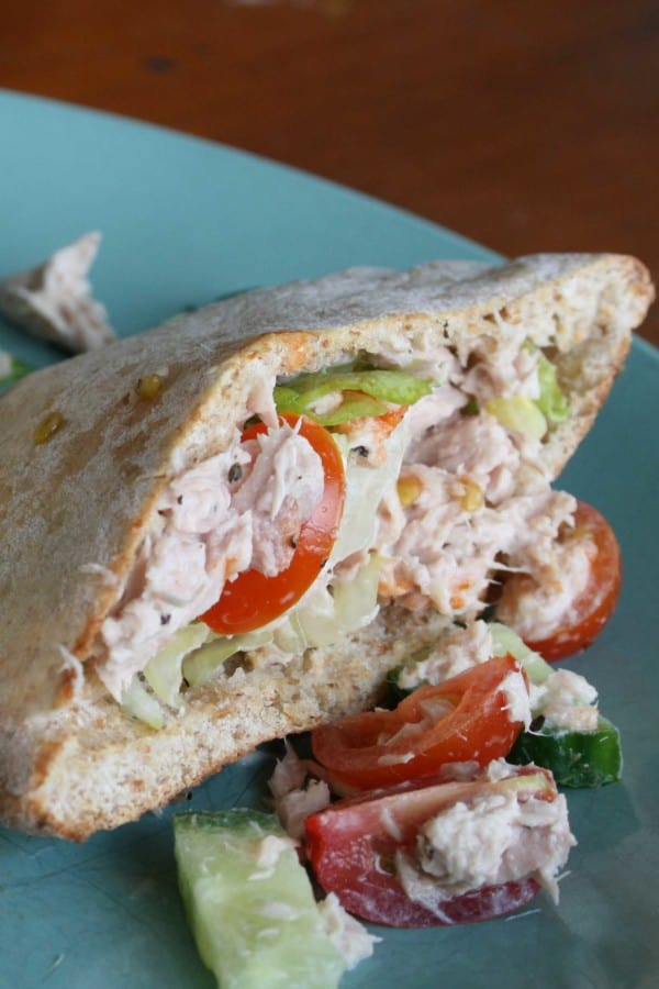 tuna salad and pita pockets