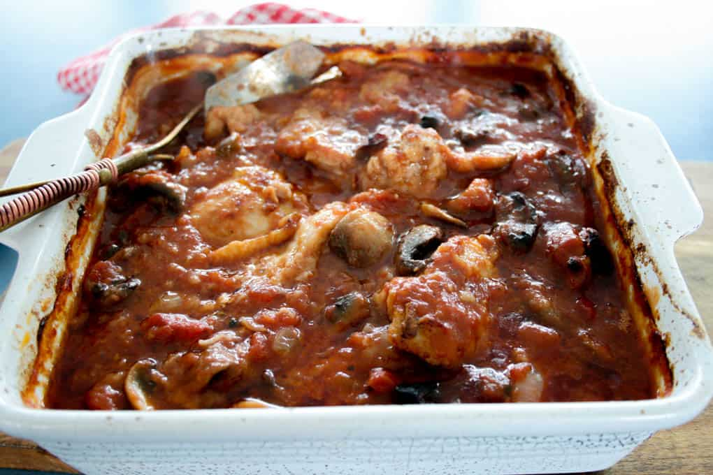 clean eating chicken cacciatore