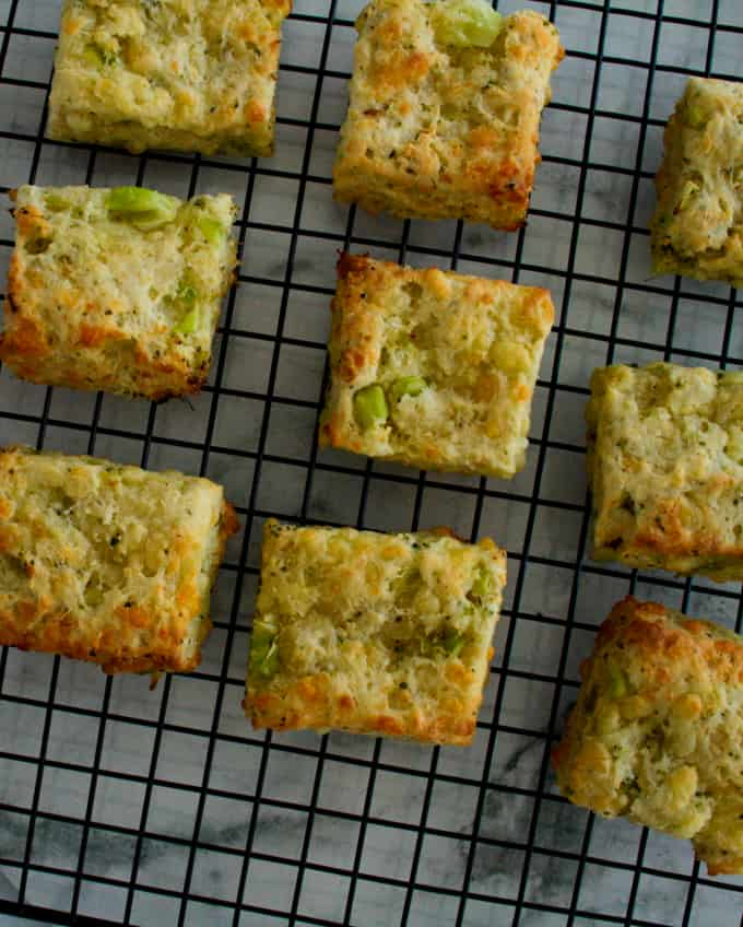 Clean Eating Broccoli Cheese Squares-4