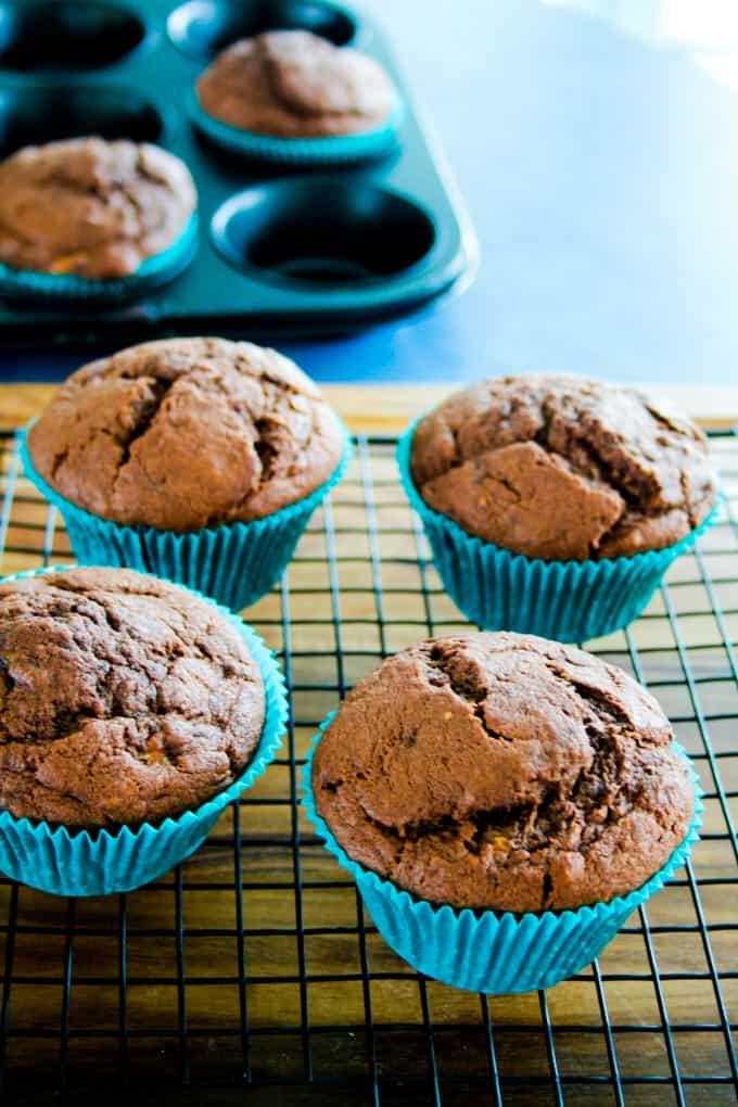 clean eating chocolate banana muffins-11
