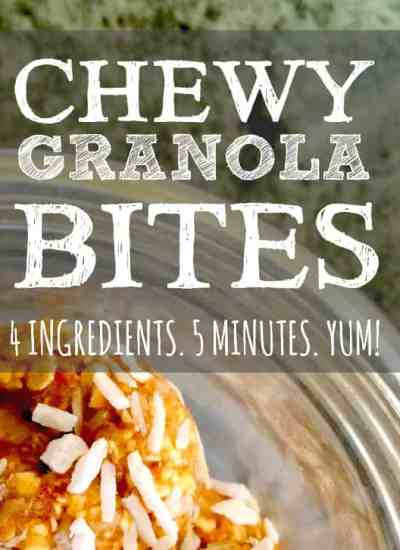 clean eating with kids granola bites
