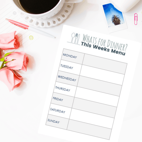 Whats for Dinner? Free Printable Weekly Meal Planner