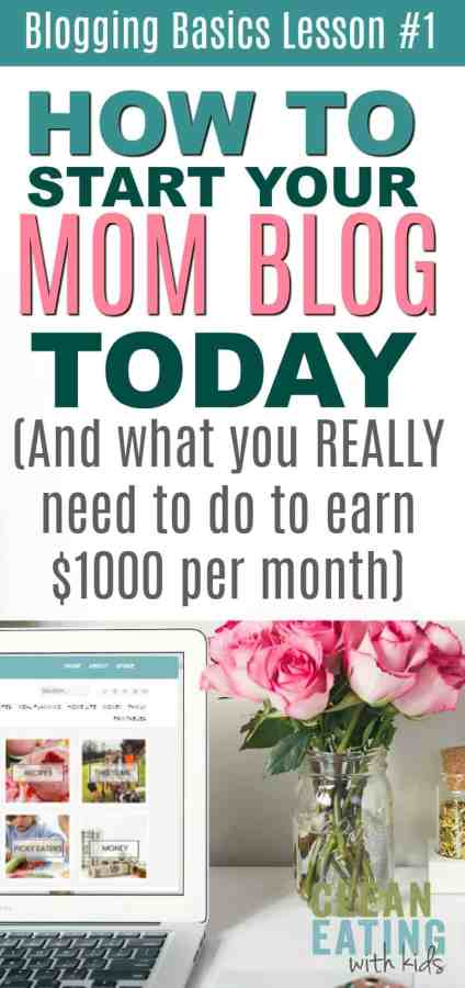 Want to start a Blog? A Quick tutorial on How to Start a Mom Blog (and the Truth on what you Really need to do to get it earning $1000 a month