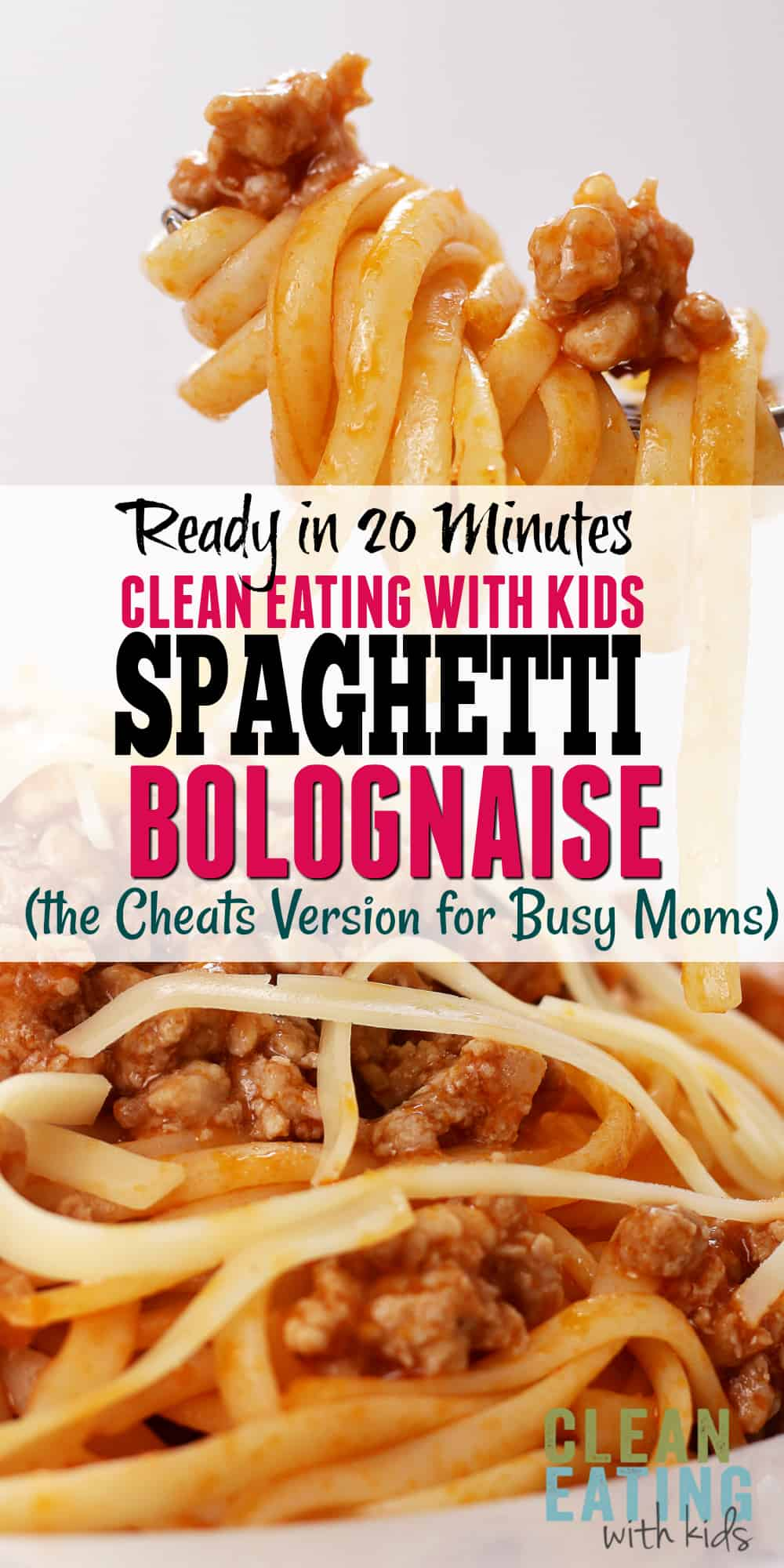 Quick and Easy CLEAN EATING Spaghetti Bolognaise. The Cheats Version for Busy Moms to get on the table in under 30 min!