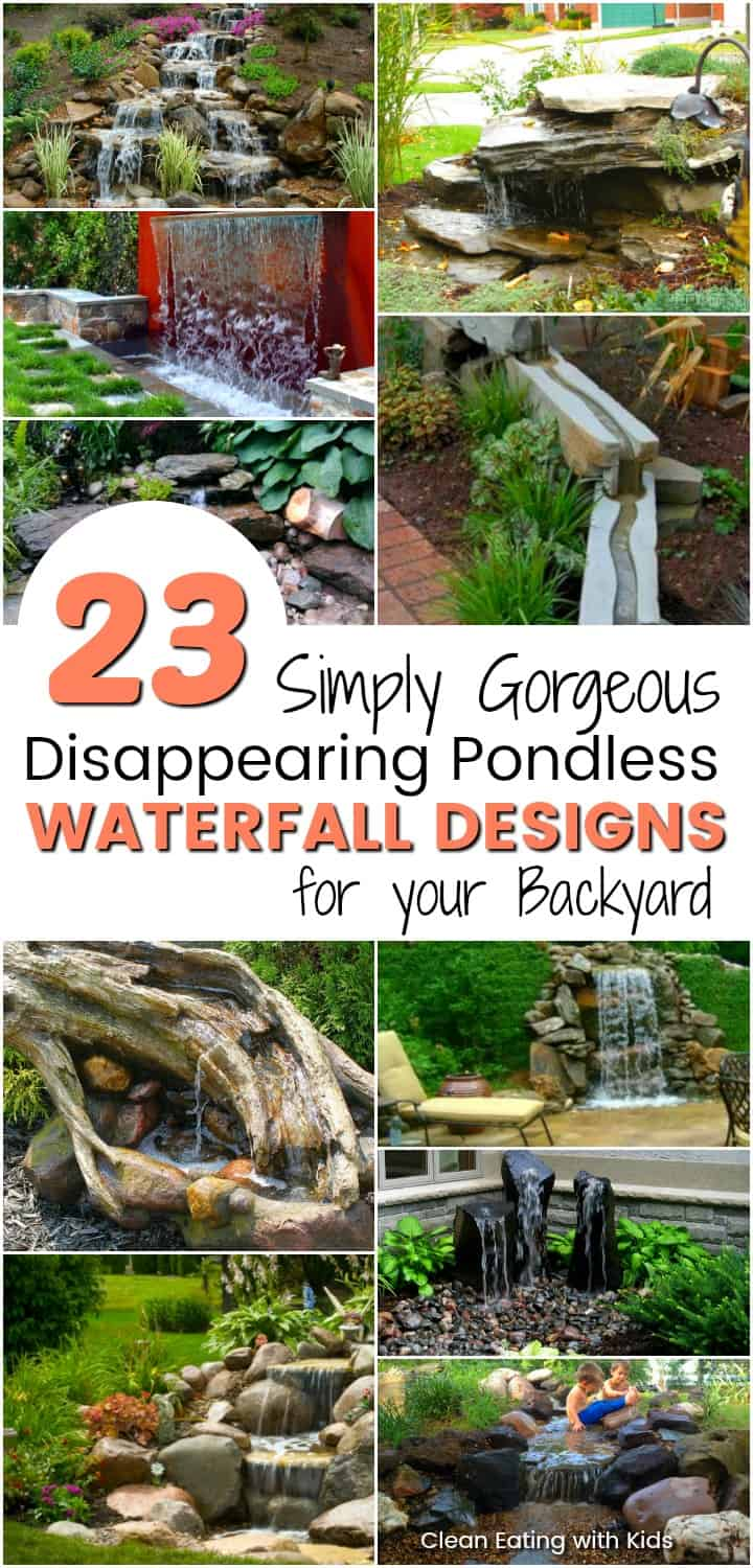 11 Absolutely Stunning Pondless disappearing waterfall designs