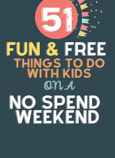 fun and free things to do on a no spend weelend