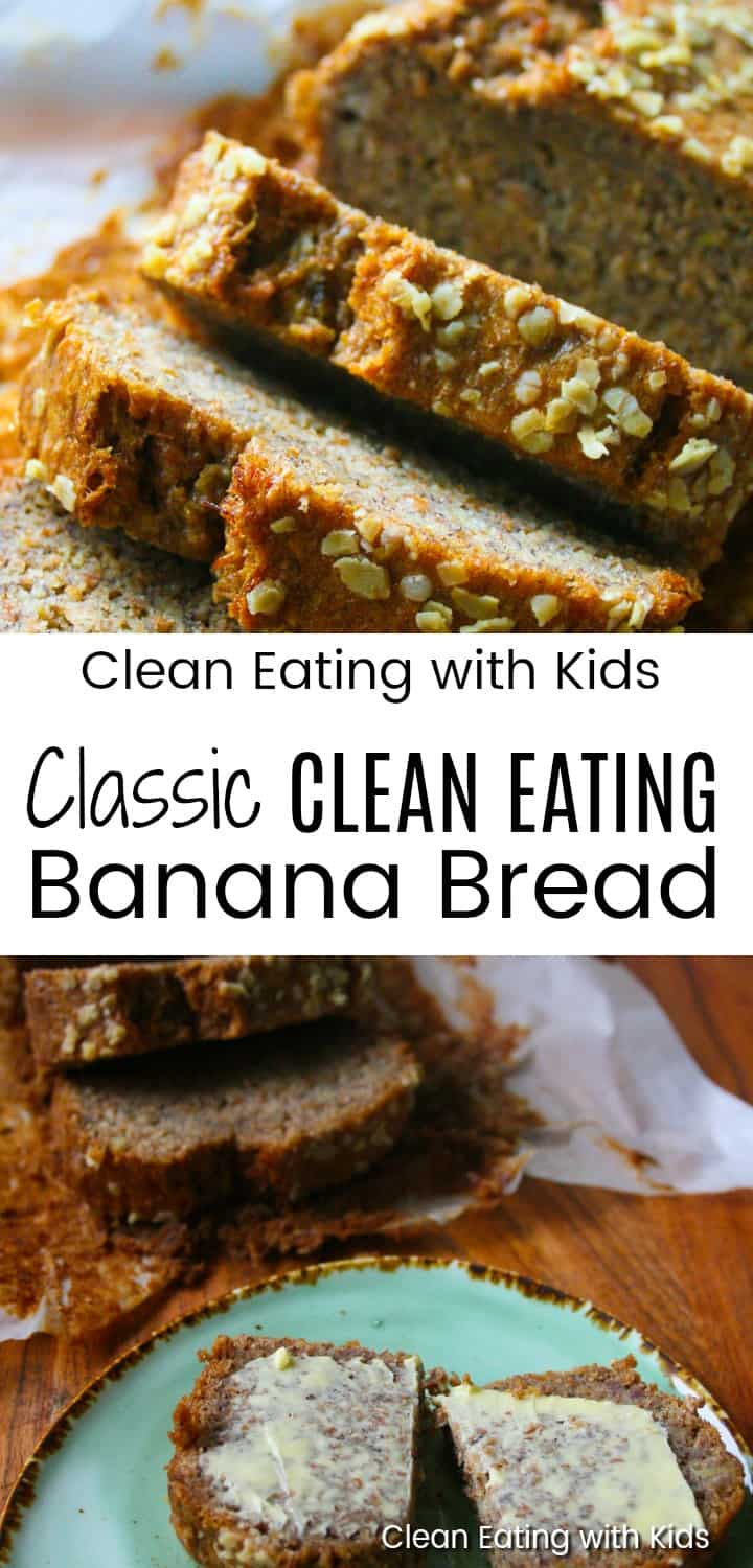 Looking for a Classic Clean Eating Banana Bread that the family will love? This banana bread recipe is simple Clean Eating at it's best.  Made old school style with a few real food ingredients that you most probably already have in your kitchen, a mixing bowl and a wooden spoon. This recipe has no surprises and I guarantee that you will be making it again and again.