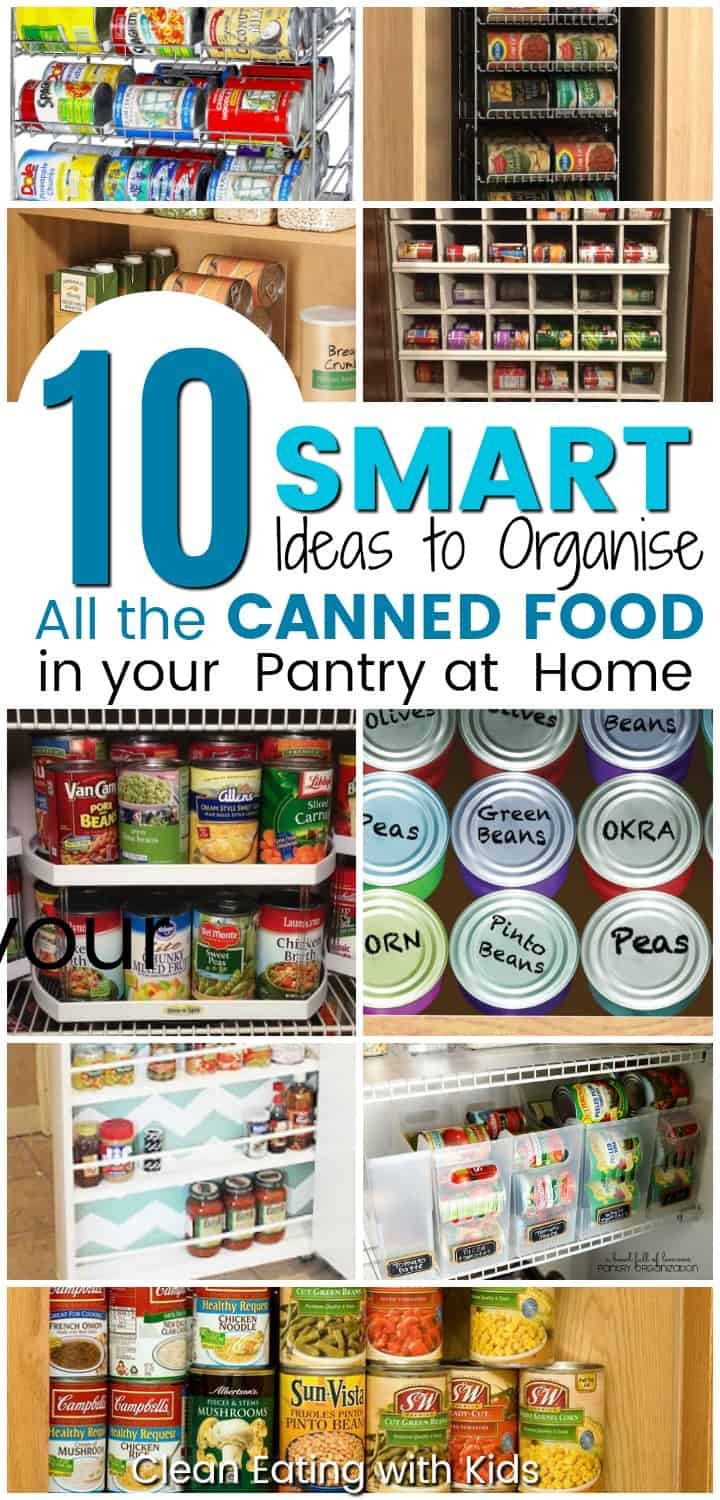 Super Smart ways to organize your canned goods in your real food pantry