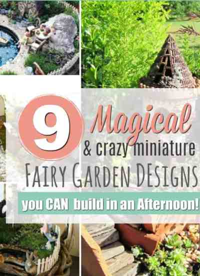 OK, I'm weirdly fascinated by mini things. I'm definitely making one of these Miniature Fairy Gardens this Spring, but I can't decide which one!