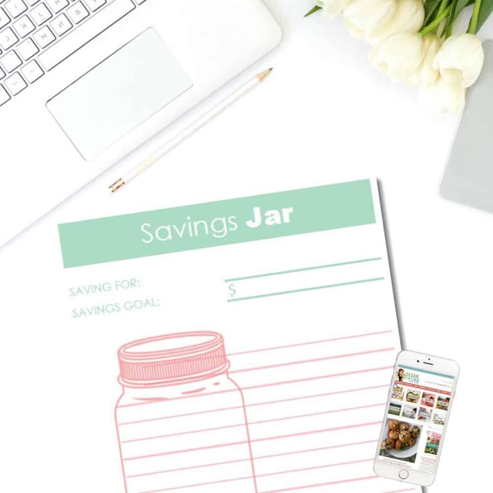 Free Printable Savings Jar Tracker Clean Eating With Kids