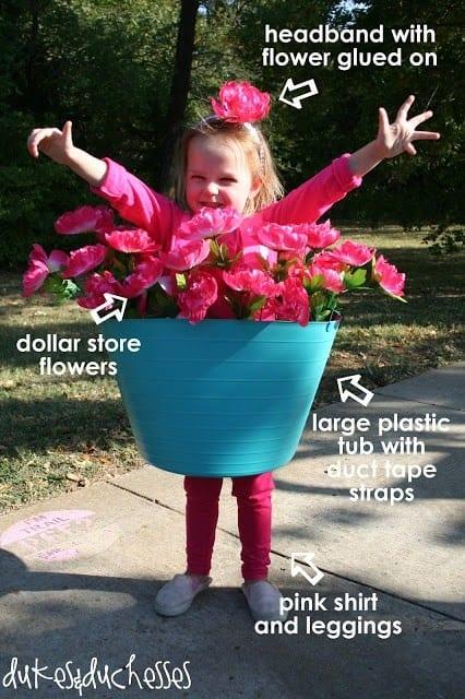 last minute halloween costume - pot plant