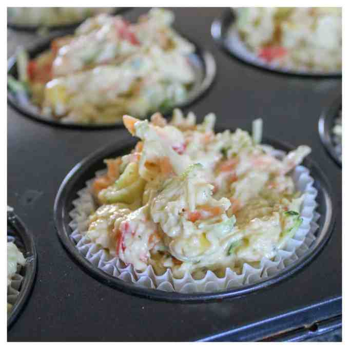 Even my fussy eater loved these! They are perfect for school lunch boxes and big enough to be a whole meal on their own. Just like a deli muffin!!